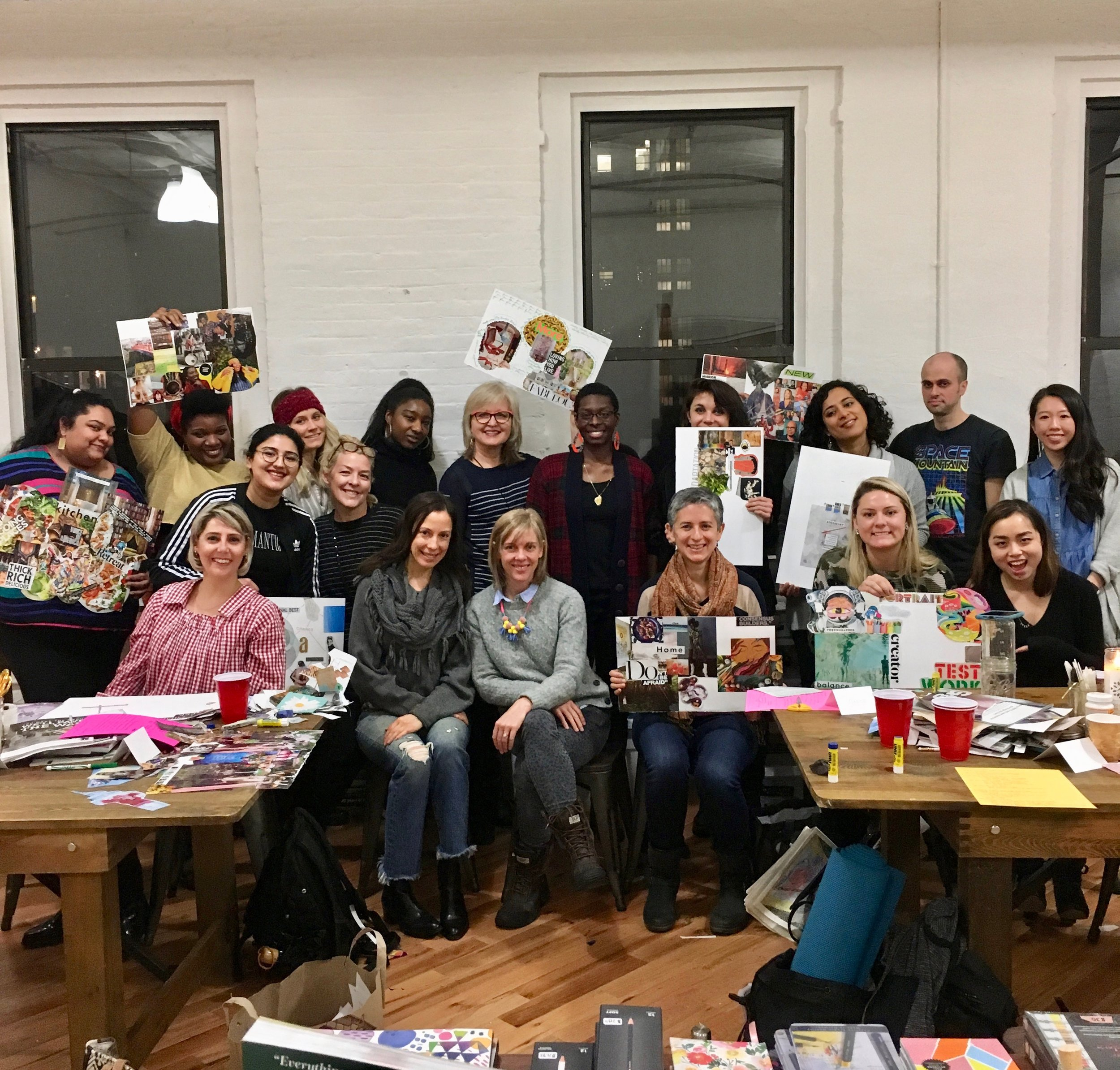 Vision Board Workshop at our Distill Creative Studio in Brooklyn.
