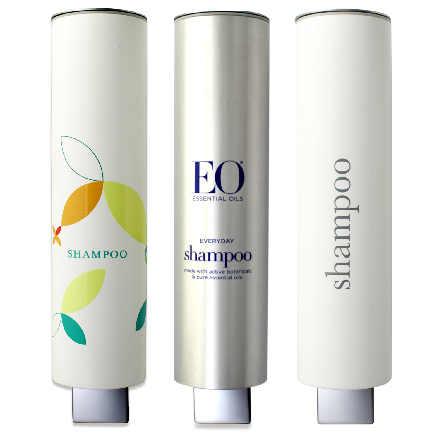 Fully customizable shampoo dispensers for hotels, spas and gyms.