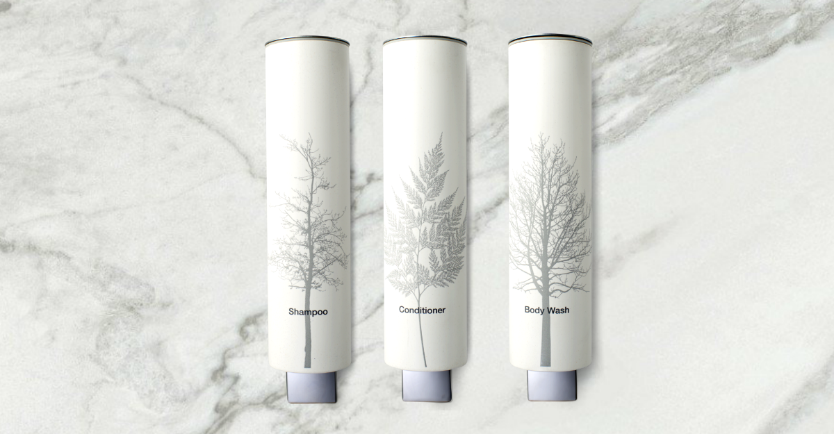 GREY LEAF BULK AMENITY SHAMPOO DISPENSER