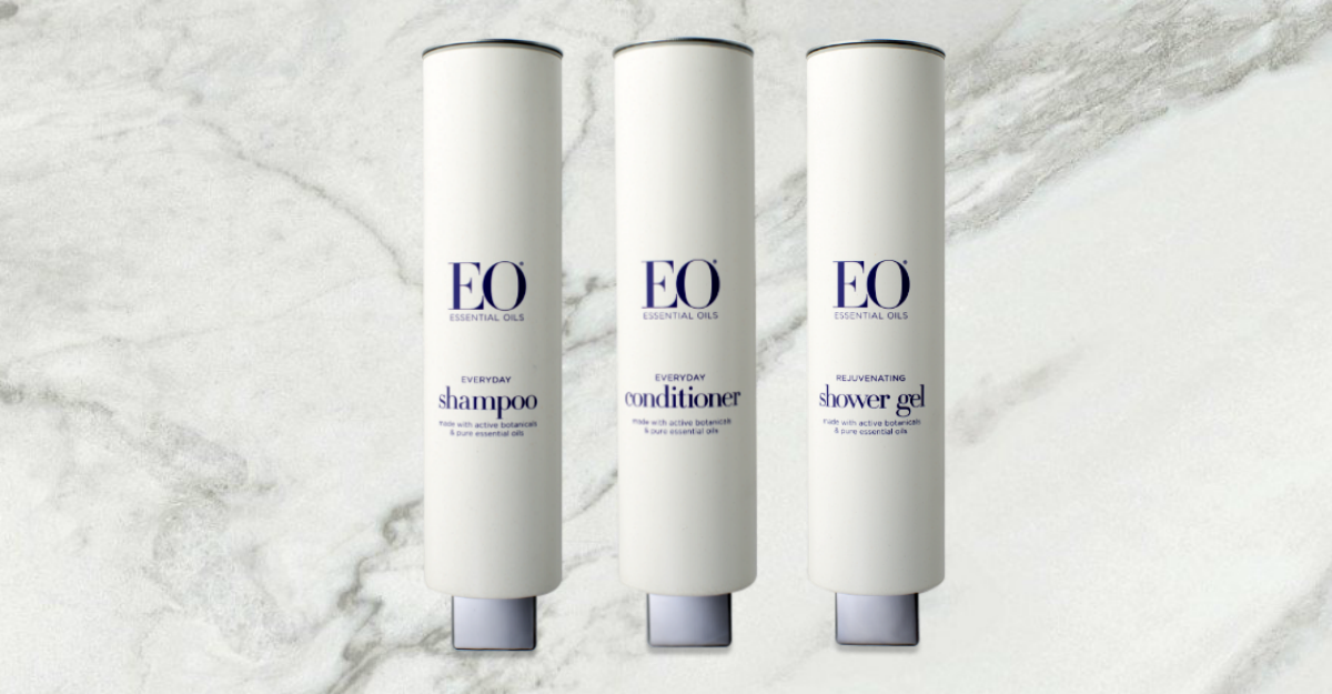 EO HOTEL SHAMPOO DISPENSERS