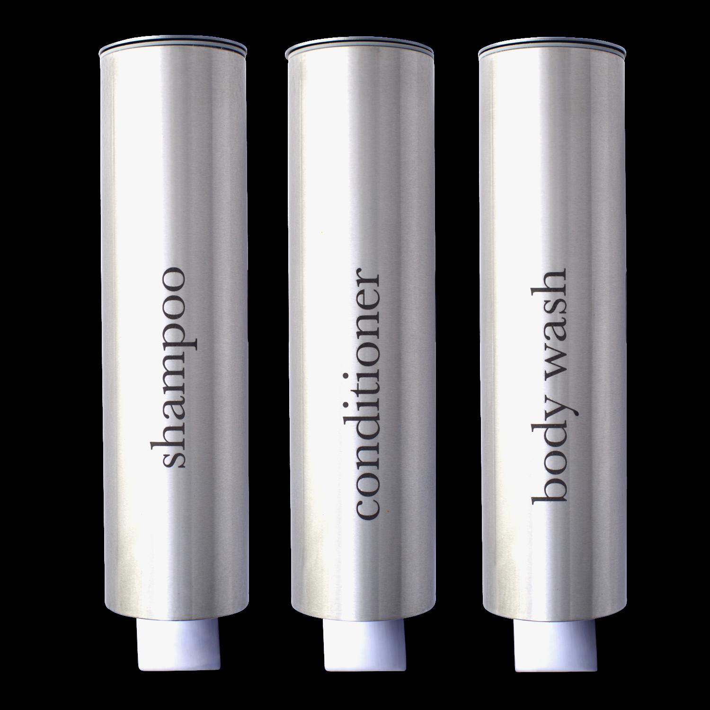 Kure Brushed Aluminum Hotel Shower Dispensers