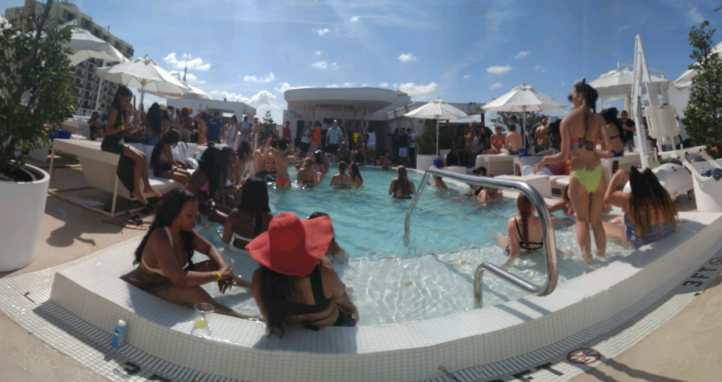 Rooftop pool party at Dream Hotel