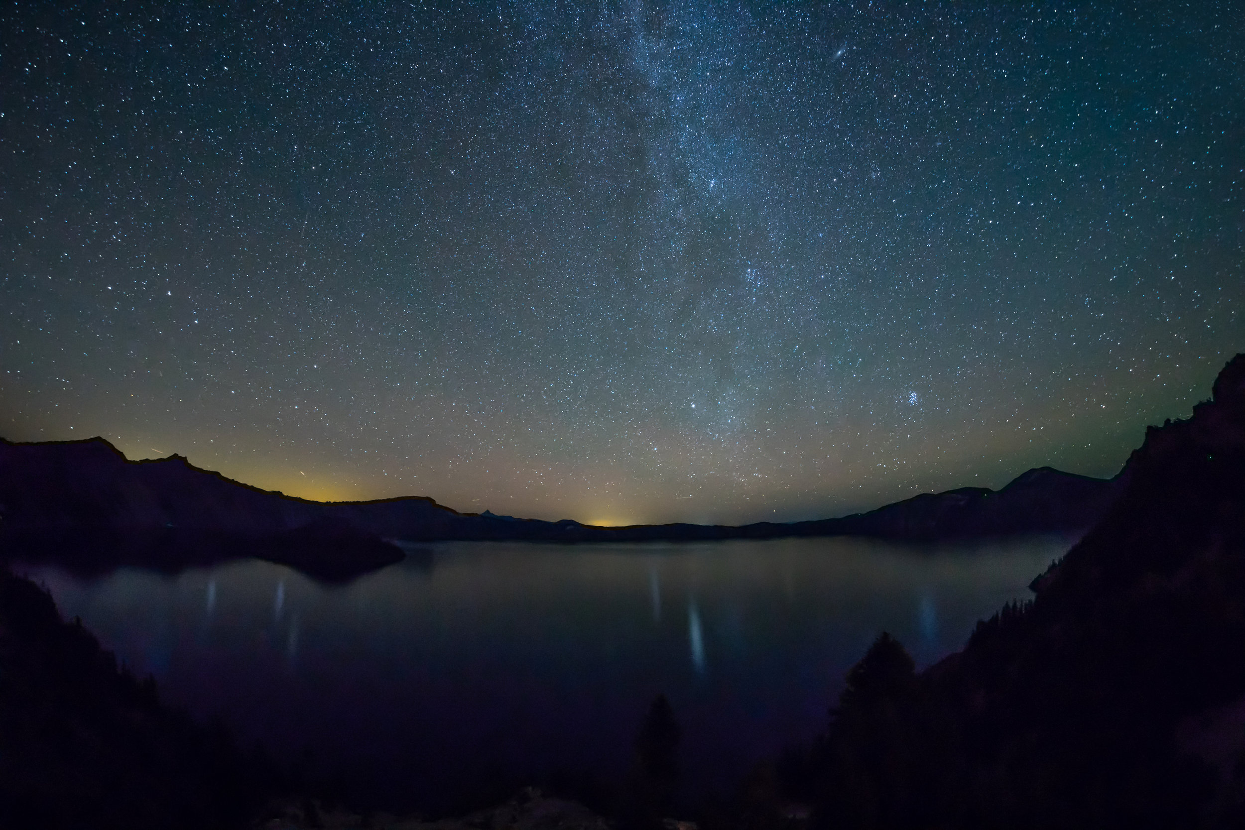 Stars over Crater Lake