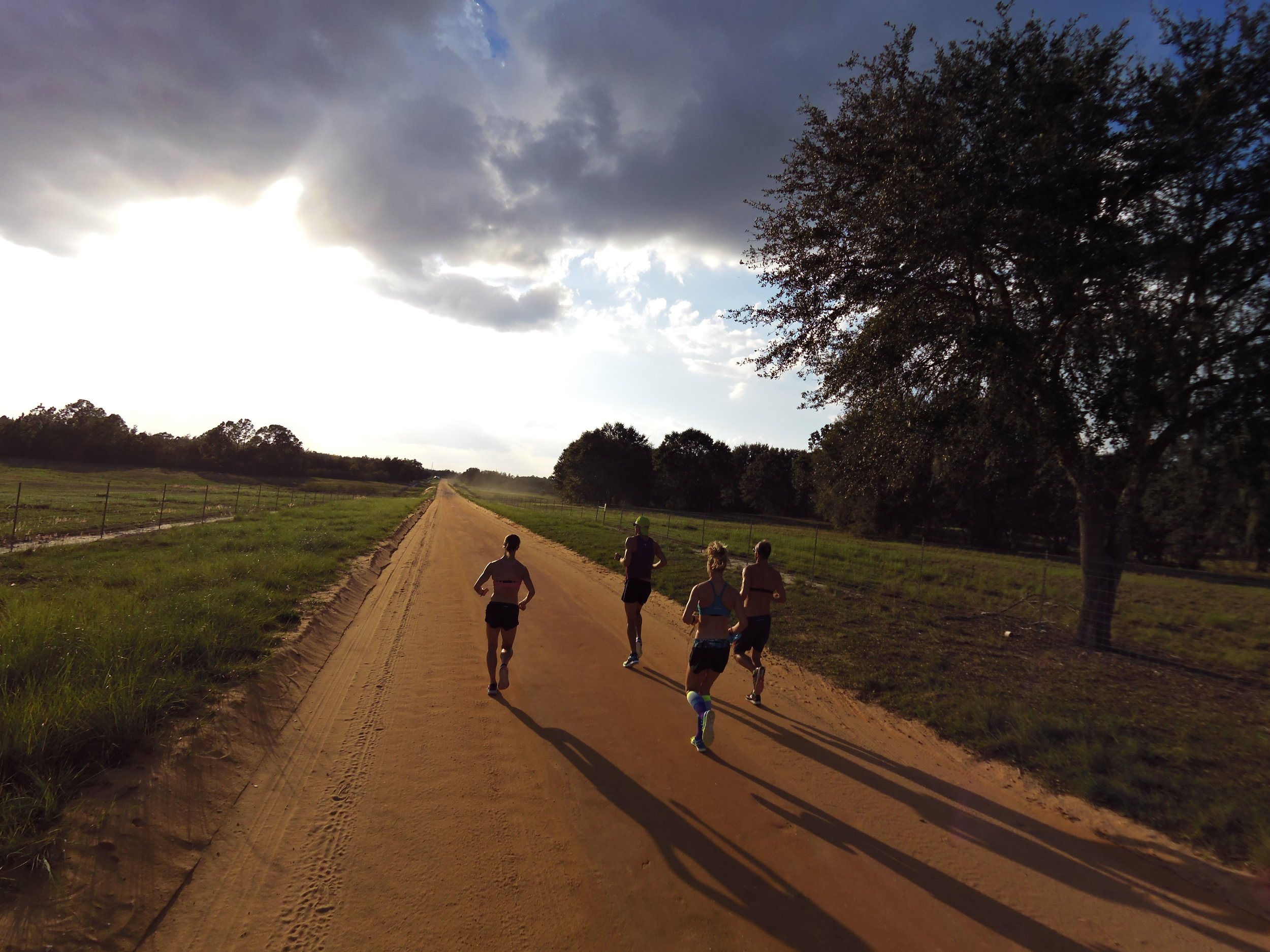 Clay Trails run workout at the QT2 Pro Camp