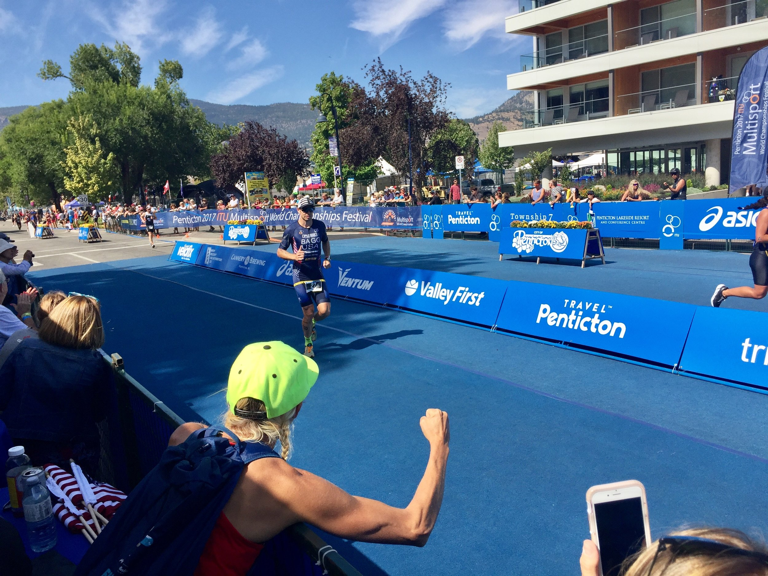 Bagg at 2017 ITU Multisport World Championships in Penticton, B.C., directed by Mike