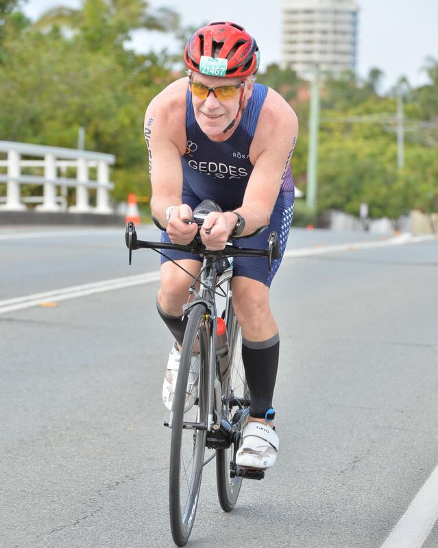 CBCG athlete Don Geddes at the 2018 ITU Age Group Standard Distance Worlds in Australia