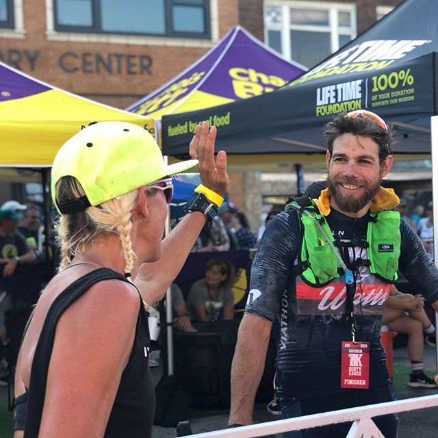 "A huge thank you to my wife and support crew @amyvantassel for all her work on the @dirtykanza course yesterday—she helped make a difficult day much easier. I spent a lot of the day thinking ""what would VT do?"" thinking back to her #ultraman victories. Also all my friends who have showed me how to toughen up at tough moments: @josh.liberles for reminding me ""pedal hard when it's hard, pedal easy when it's easy;"" @hjacksonracing @mattlieto @rachelmcb and @linseycorbin for their constant examples of toughness, and my dad, whose 75th birthday was yesterday. That guy fought in an actual war, with his fiancé half a world away. I could pedal my bike for almost half a day, given that perspective, yeah? @wattieink @moxiemultisport @viathonbicycles #viathonbicycles @fieldworknutritionco @powerbarsport @rolfprima @rudyprojectna @bontcycling @pioneercycleusa @caffeine_watts @ircbike_official #rockthew #caffeineandwatts #rudyprojectna #irctire #powerisking #builtrighthere #gravel #gravelgrinding #cycling #endurance #coffee #adventure #dirtykanza #suffering #recovery #benice"