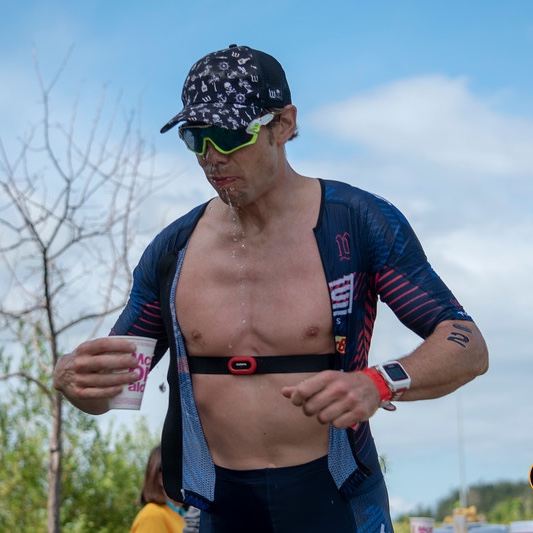 Head CBCG Coach Chris Bagg a the Great White North Triathlon photo: Ken Anderson
