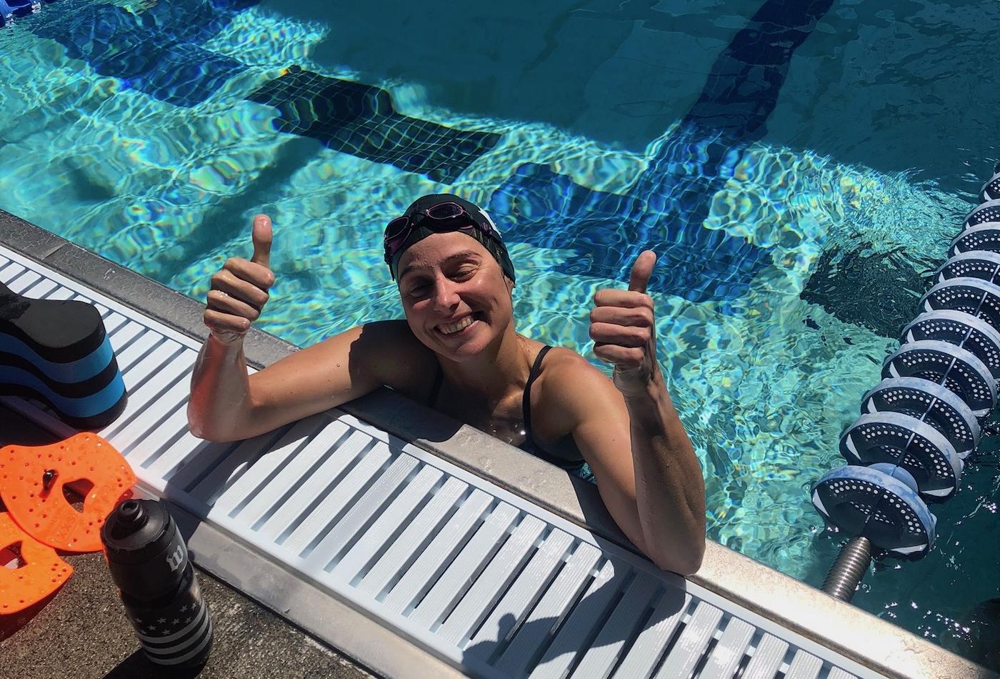 CBCG Swim Camper Nicole Van Baelen is All Thumbs Up