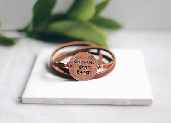 Stamped and Finch Hand-Stamped Leather Bracelet
