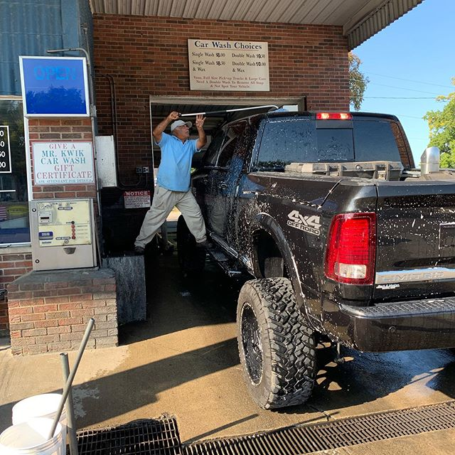 Your truck to big to fit in the automatic? No worries, we will hand wash it. That is one giant truck.