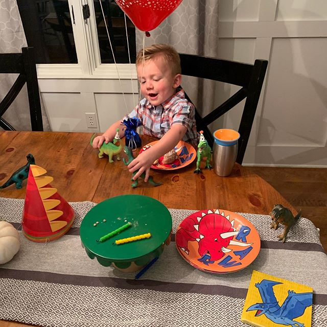 Happy birthday Henry! He's the best 3 year old i could imagine. Always ready to go on an adventure or to work and never ever in a bad mood. Also look at the little dinosaur hats Nikki made. She makes everything special for us.
