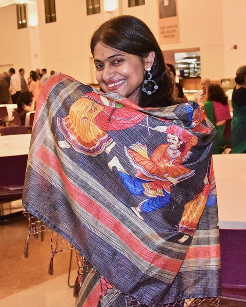 Can you see why I love saris? - Summer 2018 at my mom's student's arangetram