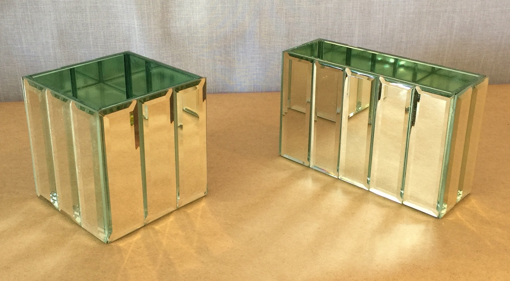 Faceted Mirrored containers
