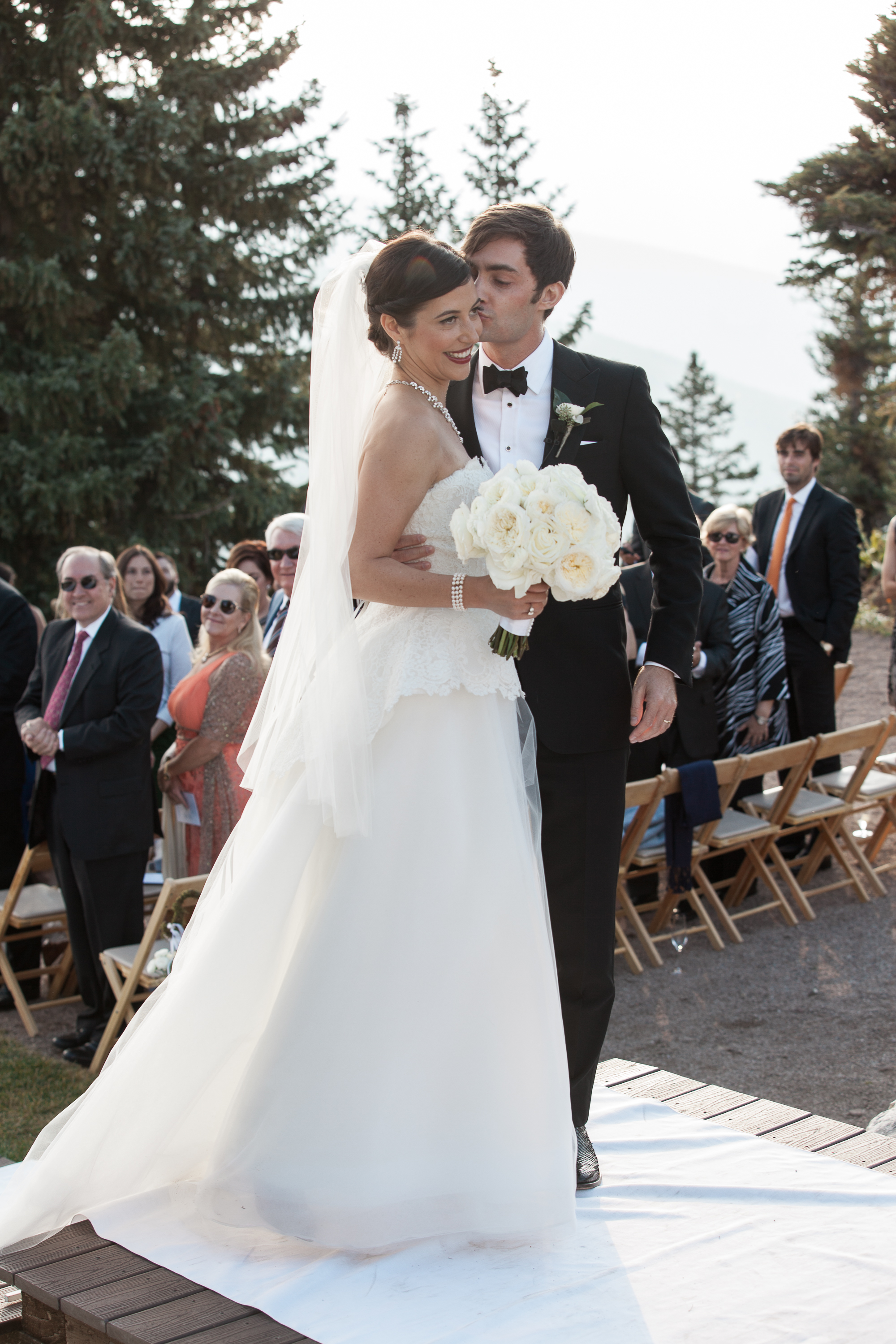 Beautiful Bride and Groom Aspen Mountain Wedding