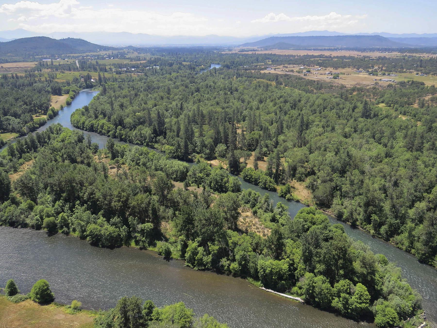 Rogue River Preserve island.
