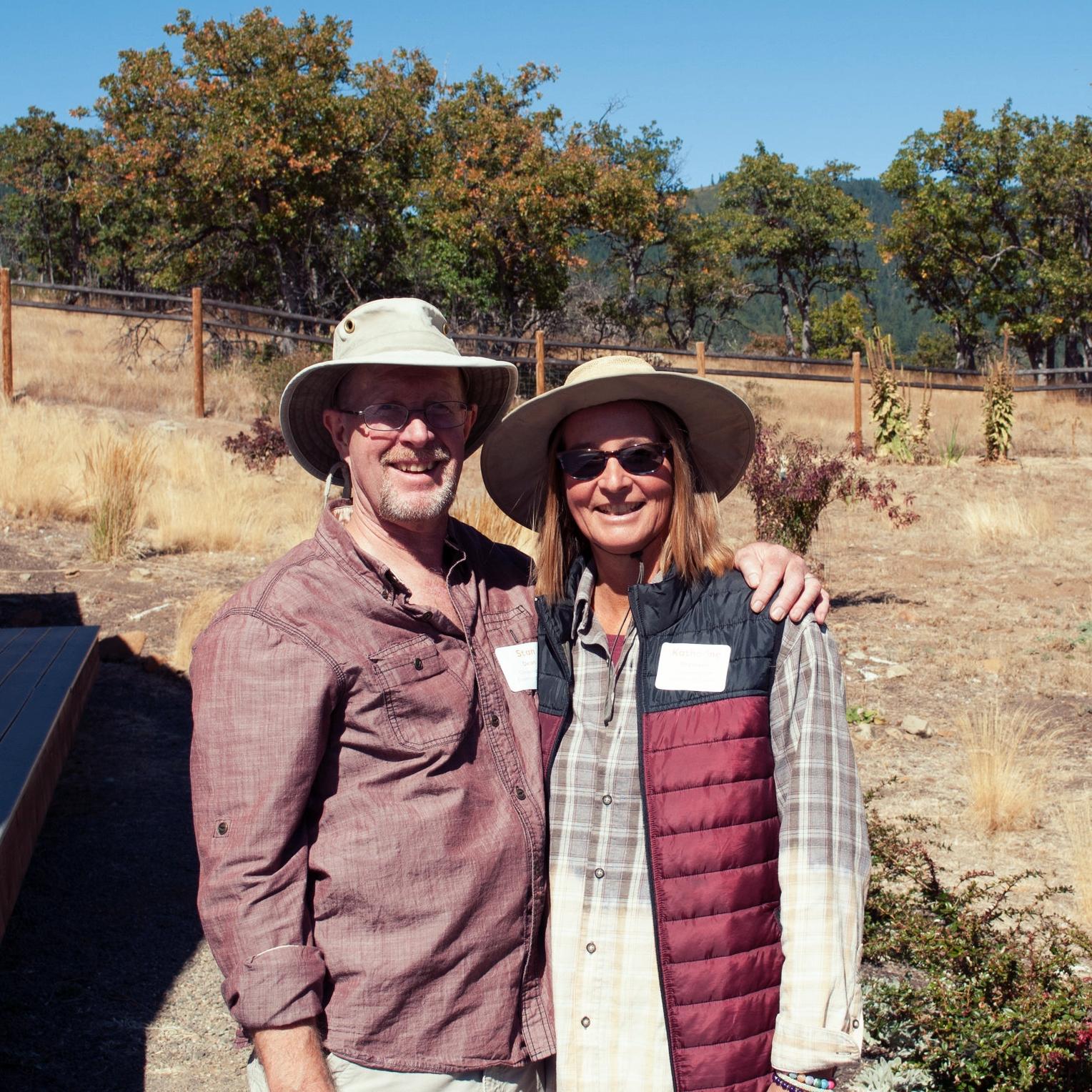 Conserved Colestin Valley landowners, Stan Dean and Katharine Bronwen.