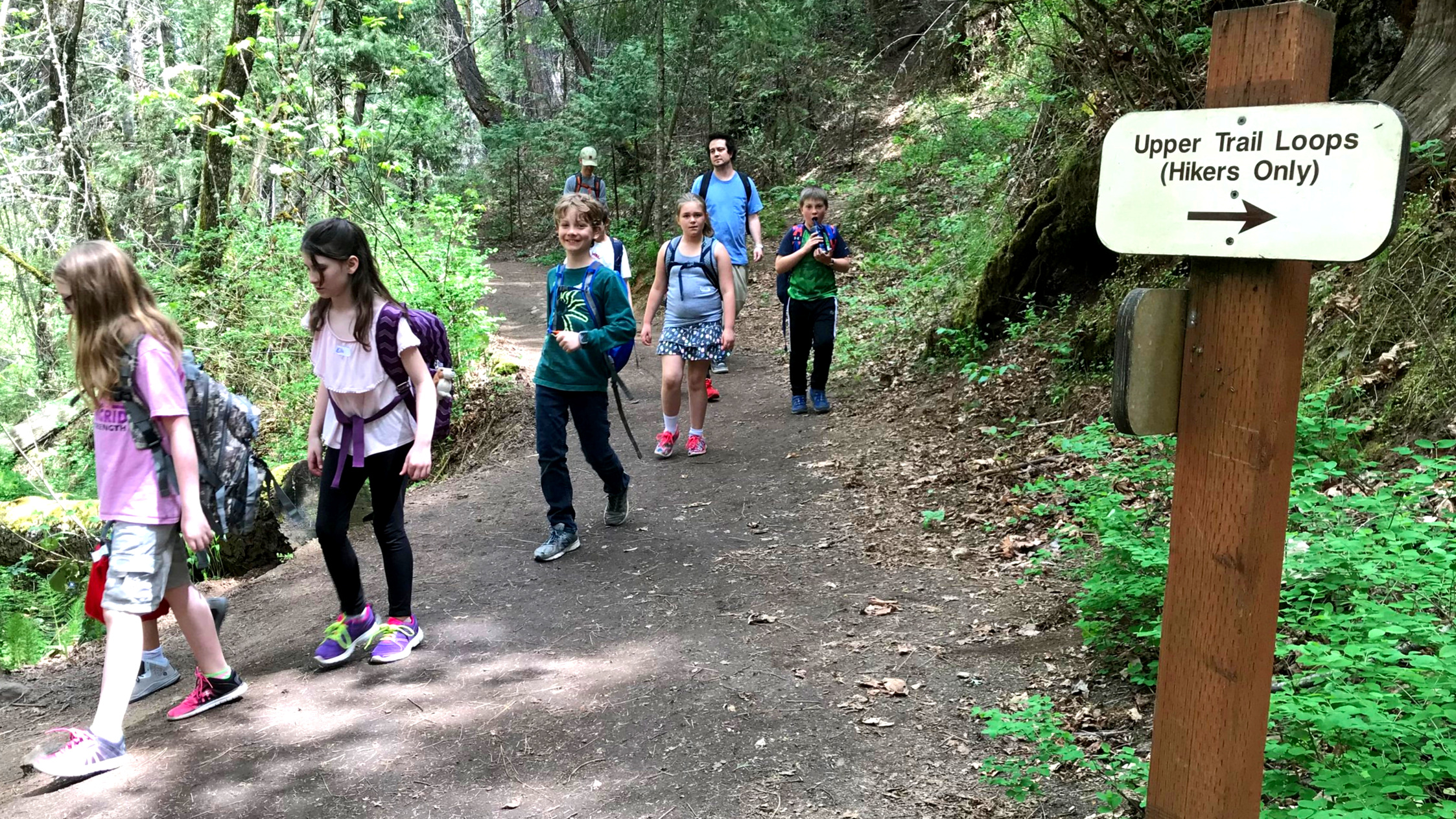 4th and 5th grade students enjoying the Woods during our annual Loving the Land outdoor education program.