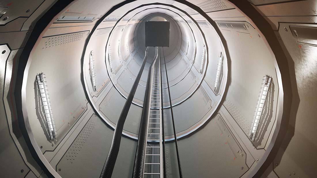 Going up! Inside a VR wind turbine.