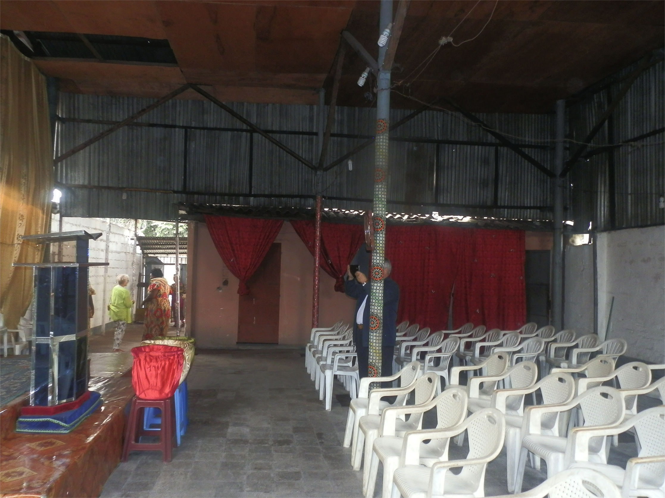 Inside the large square building to be renovated for the Women's Center