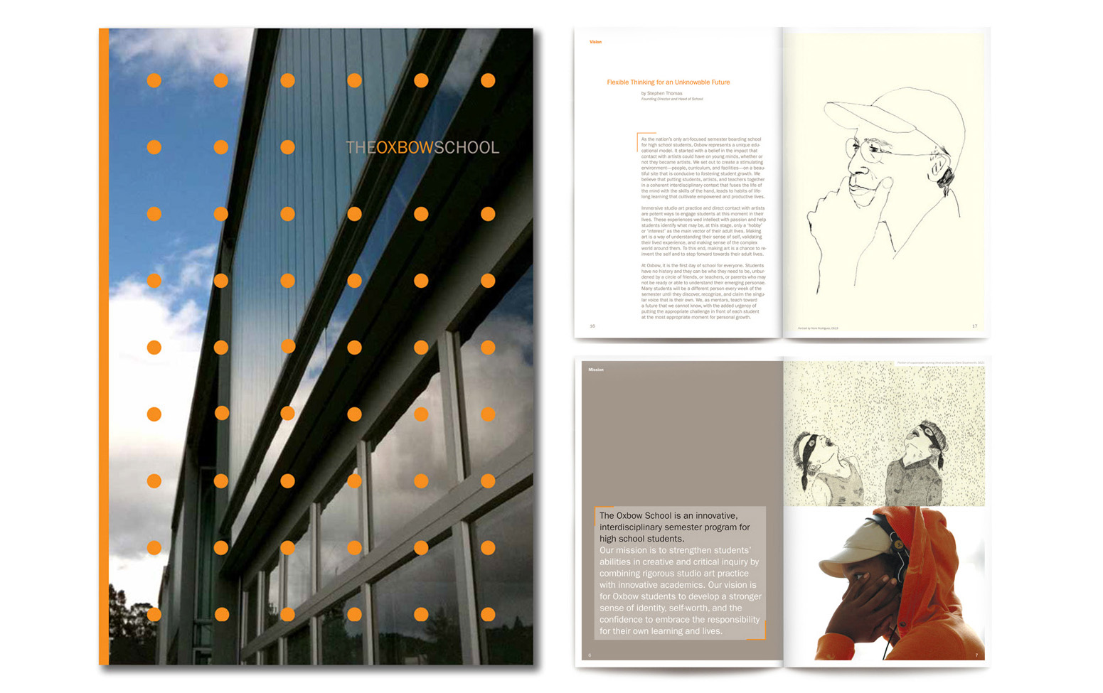 ^The Oxbow School. High School semester art School. Capital campaign and outreach materials.