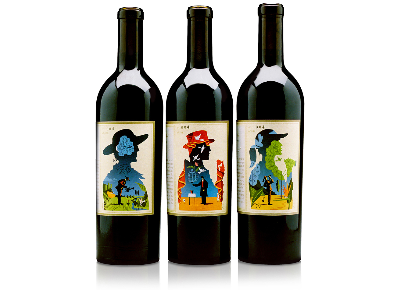 Realm Cellars. Limited edition wine labels and packaging. Numbered and ridiculously expensive.
