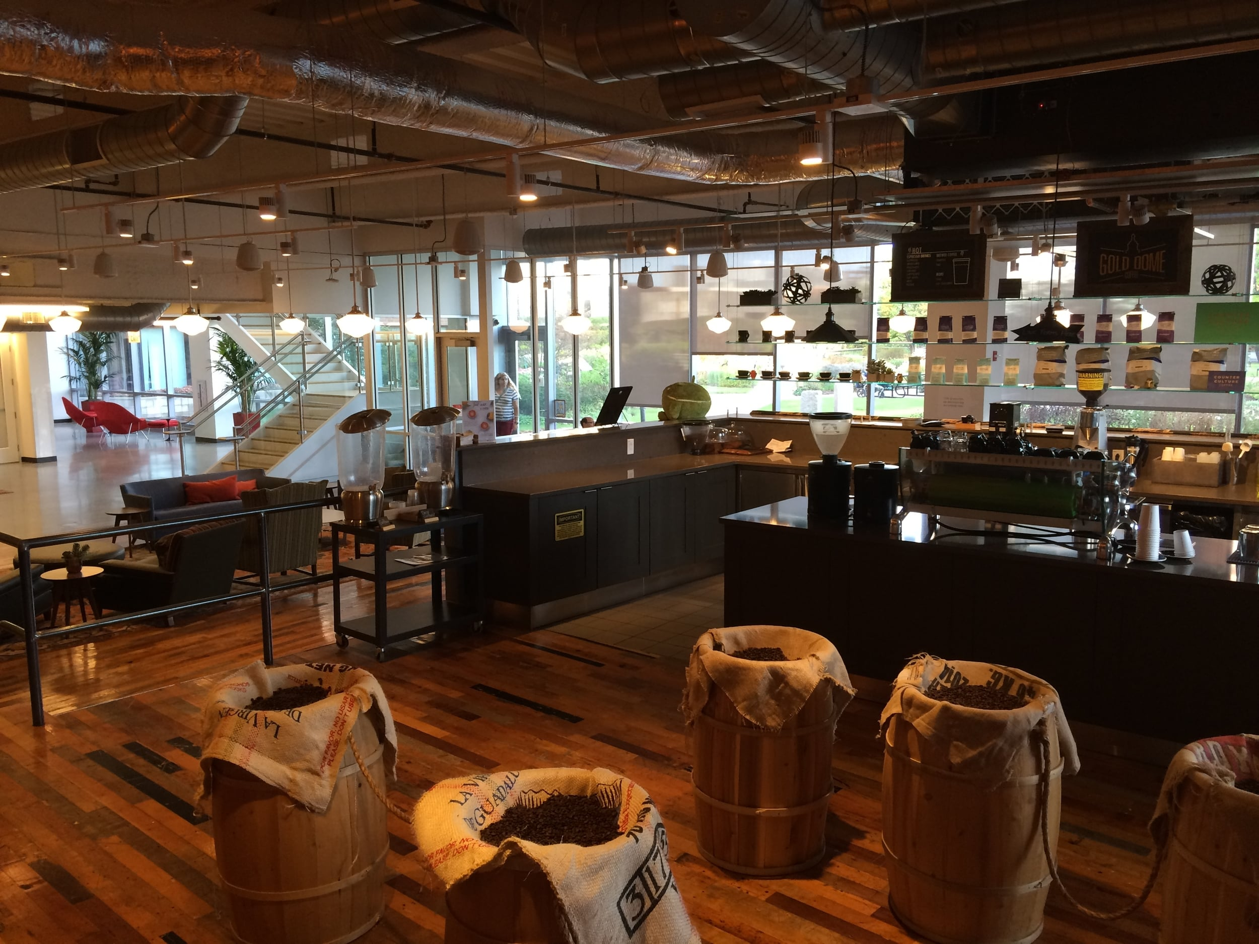 A Cafe Space in the Boston Google Office