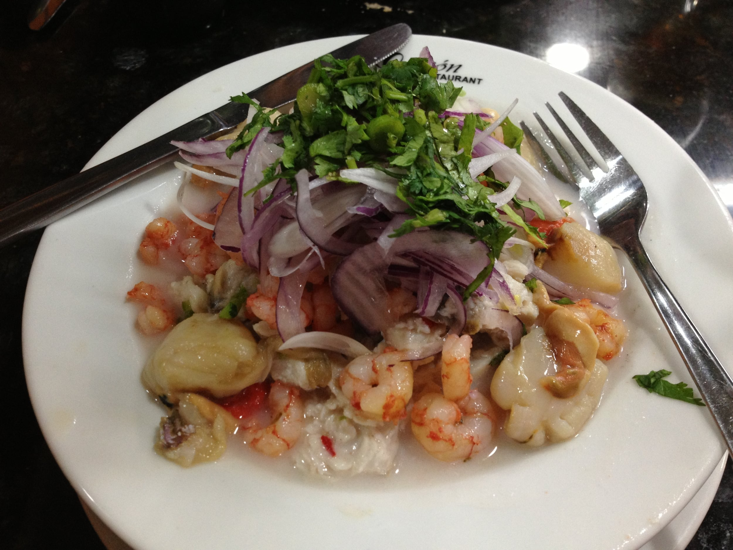 Ceviche - Raw Seafood Cured in Lemon & Lime juice