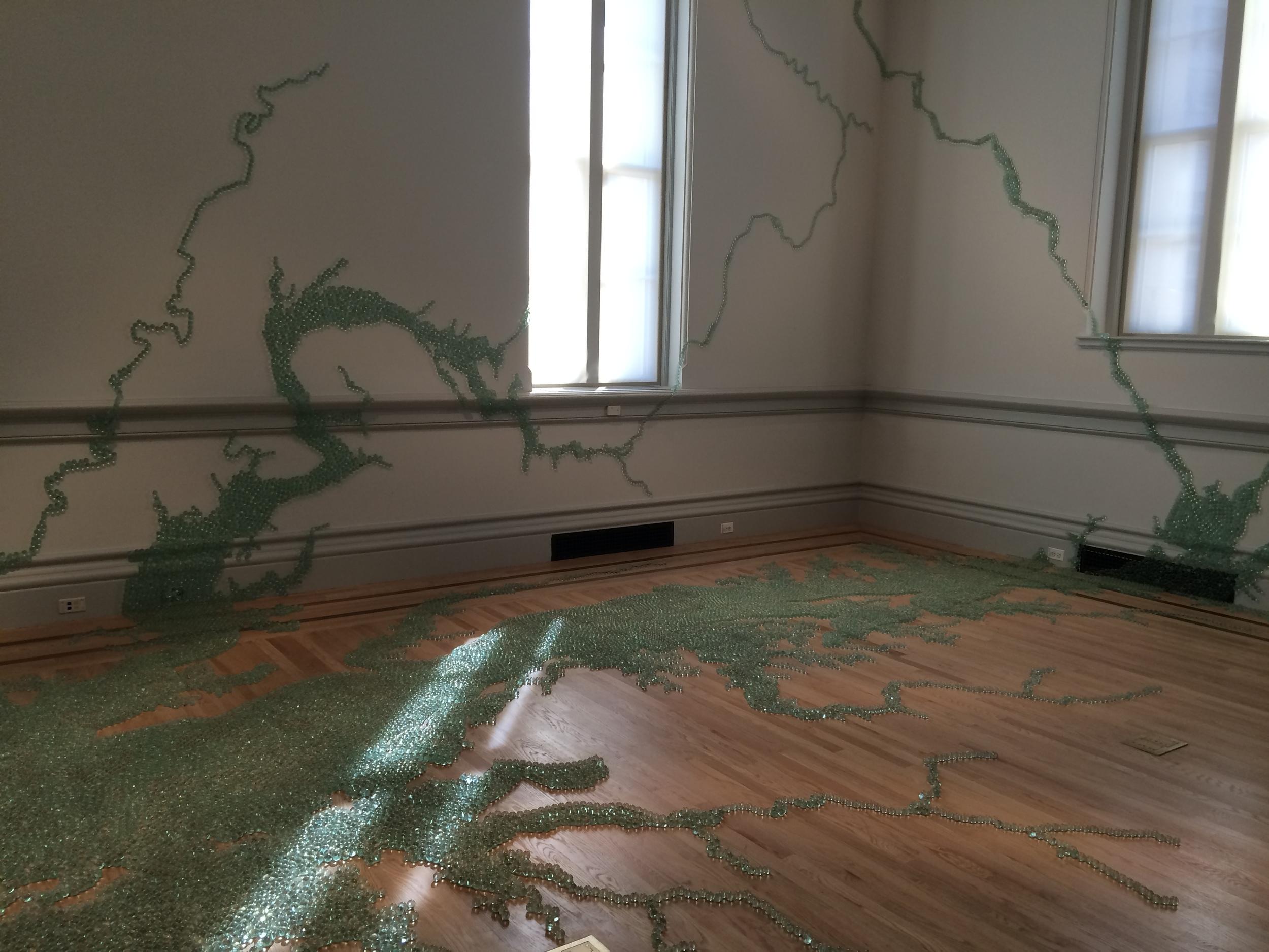 """Maya Lin, """"Folding the Chesapeake"""""""