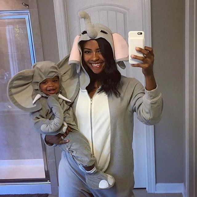My bestie @amberpurvis & Godson are #goals.  What is everyone dressing up as? 🎃🐘