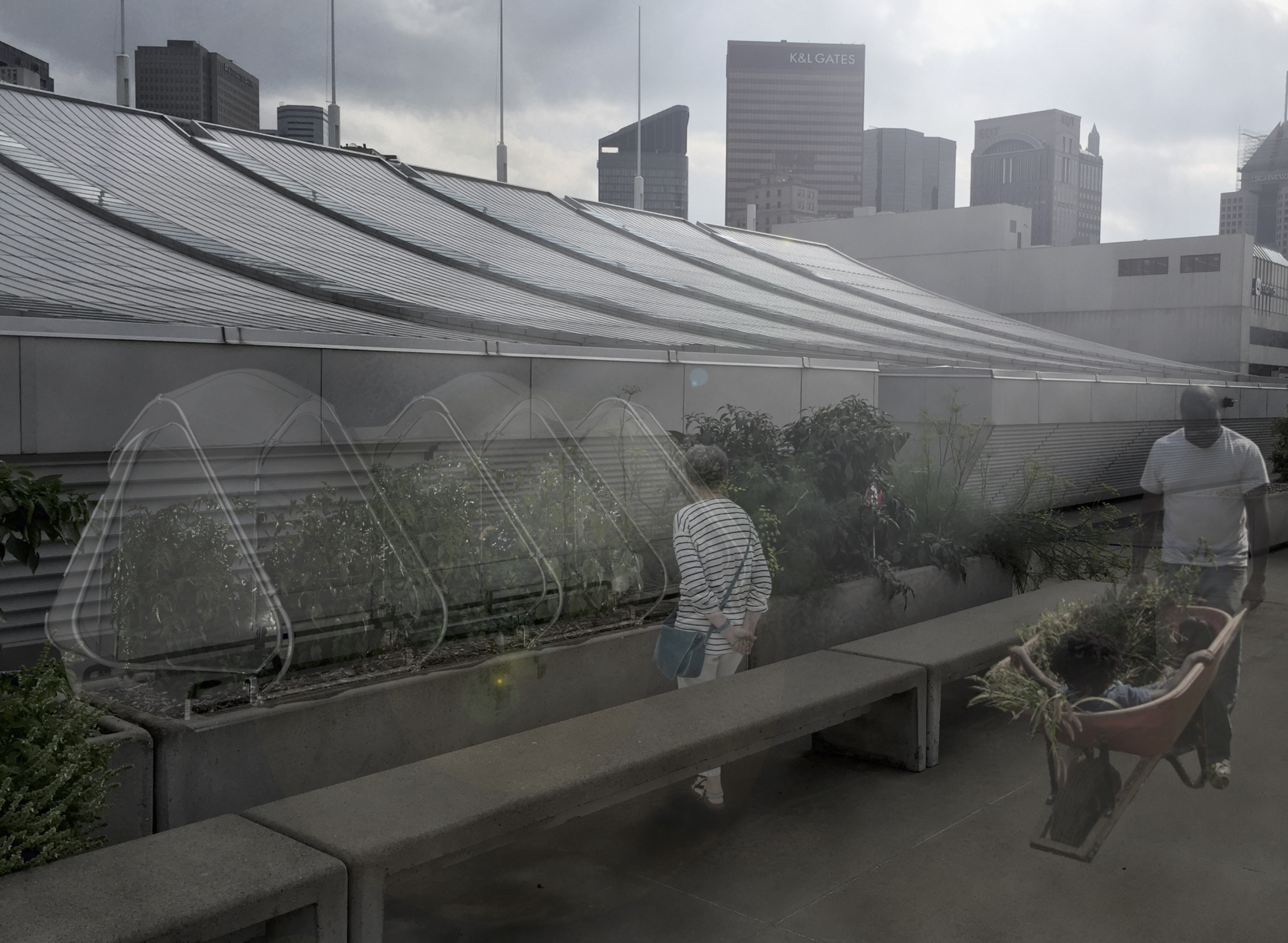 Echo Hoop House - Team: C. Anderegg, Z. Chen, M. Powell, O. Tousignant, S. WangStudioFall 2016