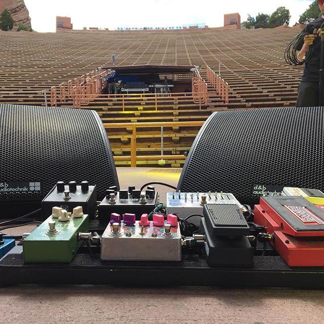 JRAD soundcheck. Ready to rock Red Rocks!