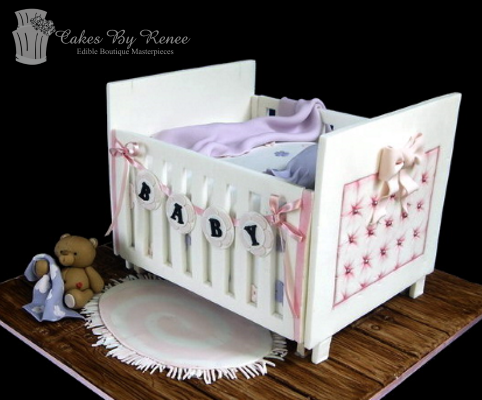 baby shower bot bassinet crib cake sleeping.png