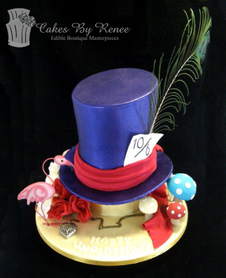 madhatter hat alice in wonderland 50th birthday cake.png