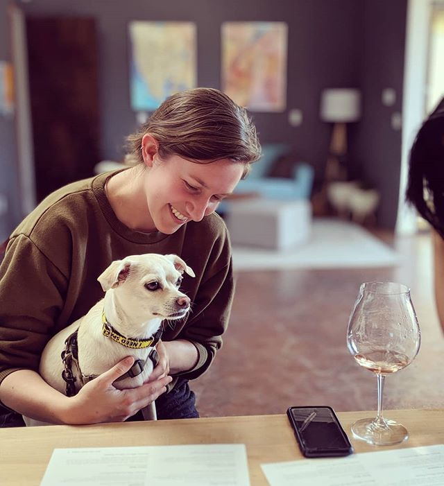 Dogs 💗 us! Just ask Wednesday (this pup). Our tasting room is dog- (and kid-!) friendly. Come say hello! Open Sat & Sun 2-6pm.  #oaklandwinetrail #dogfriendly #dogsofinstagram #dogsofoakland #urbanwine #urbanwinery