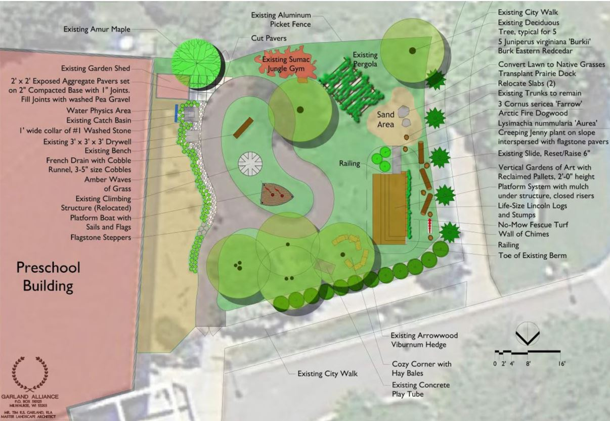 Preschool of the Arts — Preschool Playground Concept Plan, Madison, WI