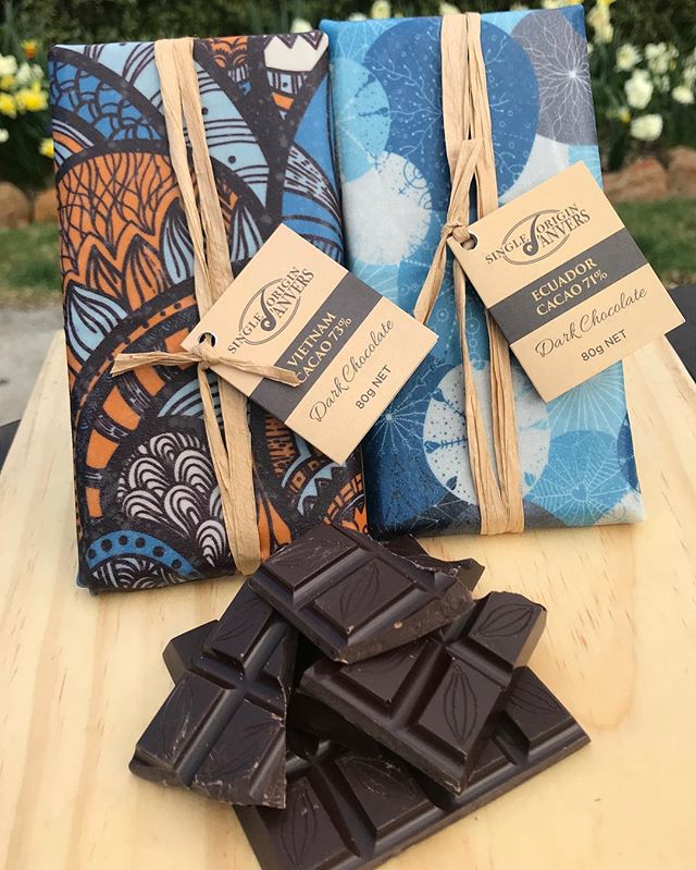 Single origin Dark Chocolate from: Ecuador 71% Vietnam 73% Each chocolate has its own unique flavour and is wrapped in sustainable, reusable bees wax paper that can be washed and used over and over again....amazing! Keep an eye out for more of these beautiful single origin chocolate blocks to arrive at Anvers 🐝🍫🇪🇨🇻🇳 #HouseofAnvers @cradle2coast #CradletoCoastTastingTrail #Cradle2CoastTastingTrail #TasmaniasNorthWest #SpiritedTraveller #DiscoverTasmania #TasmaniaGram #TassieStyle