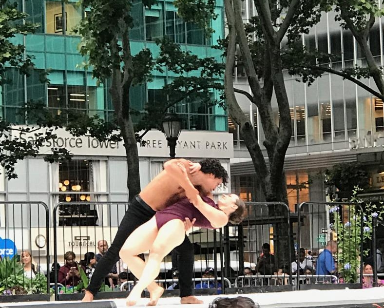 """Chris Bell and Nicole Baker in """"Grand Duo"""" at Bryant Park"""
