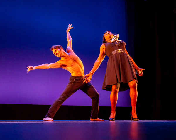 """Sean Rozanski  and Nedra Belle perform """"And I'm Telling You I'm Not Going"""" (from Dreamgirls) at the Dancers For Good Benefit 2019. Photo by Shin Kurokawa."""