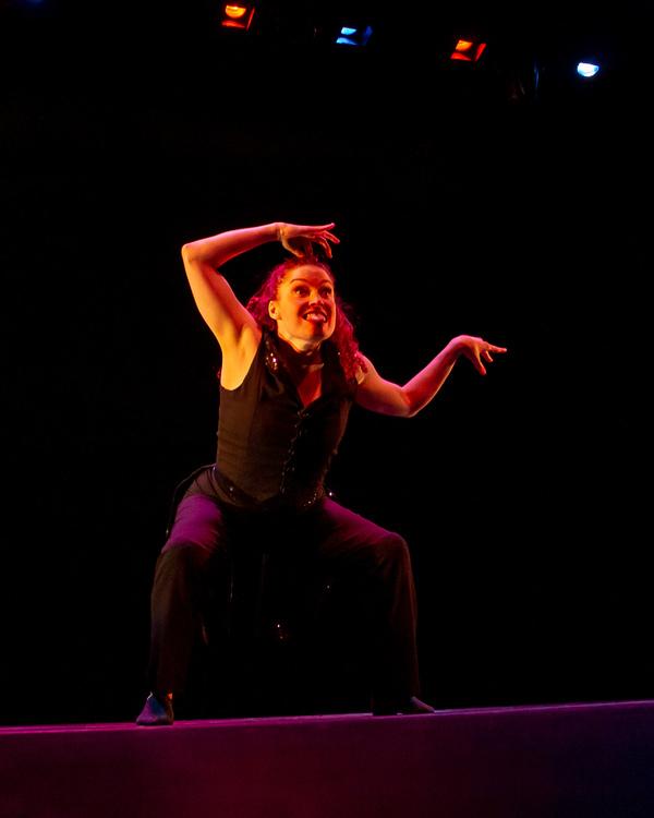 "Megan Jakel of  Alvin Ailey  Dance Theatre performing ""Ella"" choreographed by  Robert Battle  at the Dancers For Good Benefit 2019. Photo by Shin Kurokawa."