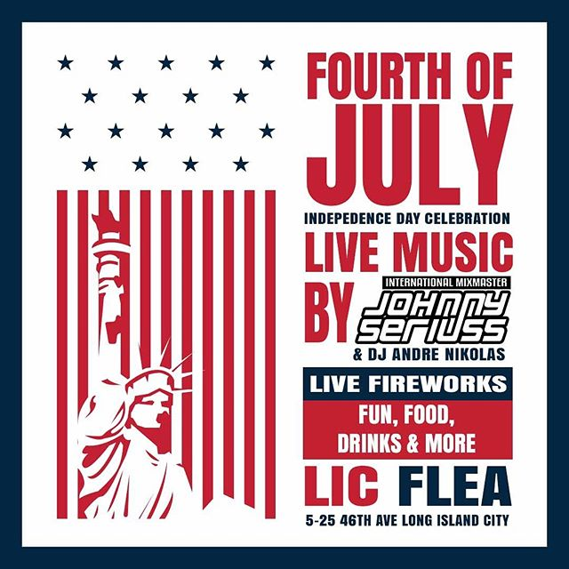 Come Join me & @djandrenikolas at @licflea for the #4thofjuly #celebration we spinning here live right now all DAY!!! till the NYPD shut us down! (JK we got permits) #Food #Fun #Beer #Wine and #LiveFireworks 💥💥💥💥💥 #lic #djlife #newyork #newyorkcity #nyc #4thofjulynyc #djcity #djcitynyc