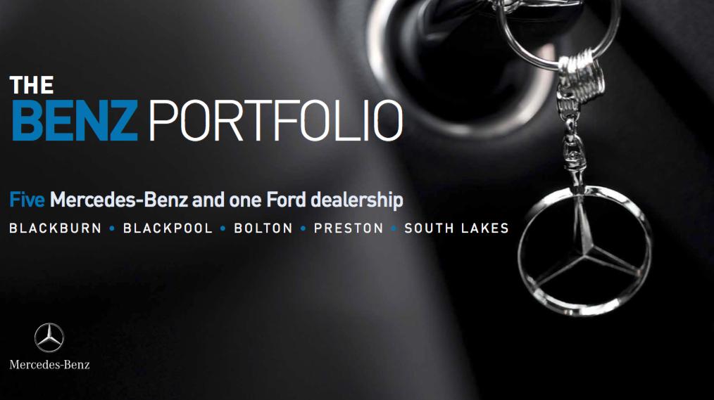 CAR SHOWROOM PORTFOLIO - ACQUISITION    The Benz Portfolio   Acquisition of a portfolio of Mercedes Benz car show rooms.   Client:  Private   Vendor:  Private   Price:  Circa £20m