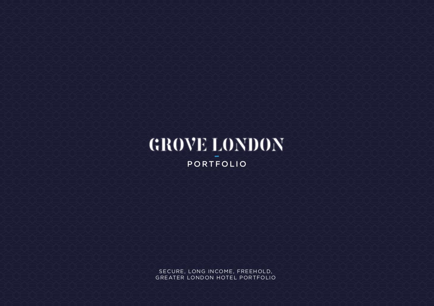 PORTFOLIO - INVESTMENT - ACQUISITION    Grove London Portfolio   4 London Travelodge Hotels   Client:  UK Prop Co   Vendor:  Goldman Sachs   Price:  Confidential