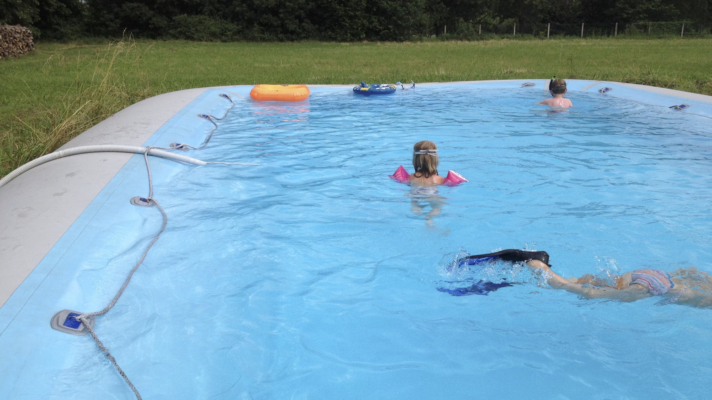 Our child friendly pool is great for kids but stil big enough to have a good swim being an adult. More about our pool, click here!
