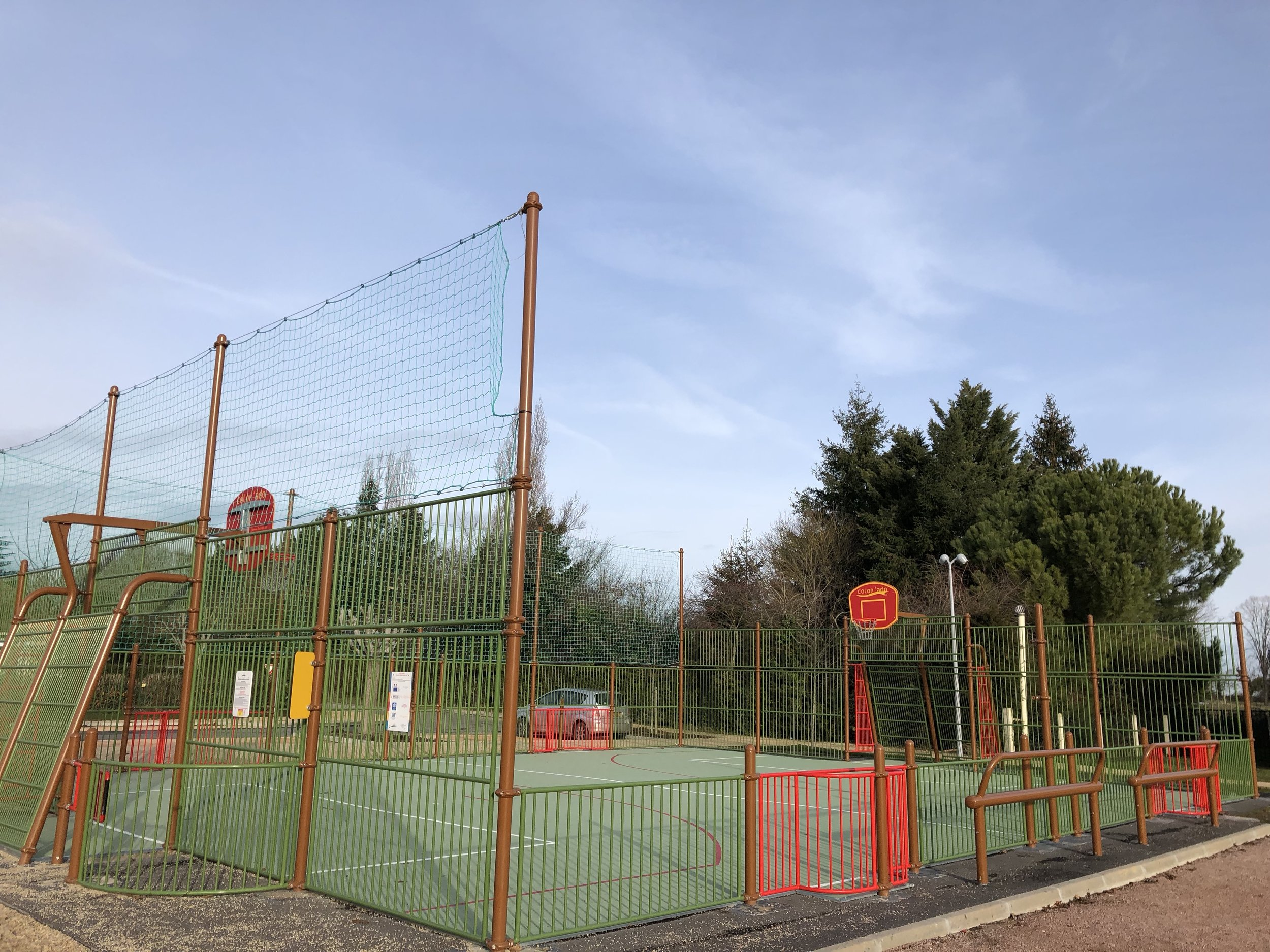 In our village Bayet, directly next to our parc, is a communal kids play and sports area: easy acces, brand new, safe, i't's a great playground!