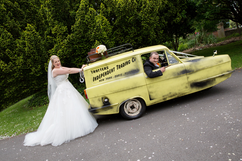Robin Reliant Wedding Car, Helen England Photography, Kent, U.K