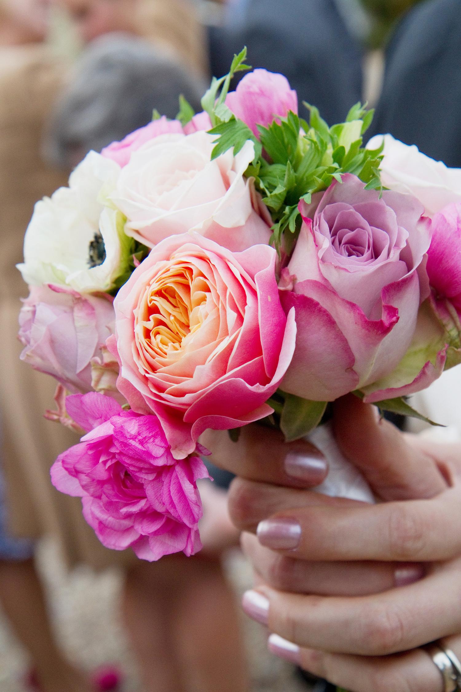 Pink Bridesmaid's Bouquet, Helen England Photography, Kent, U.K