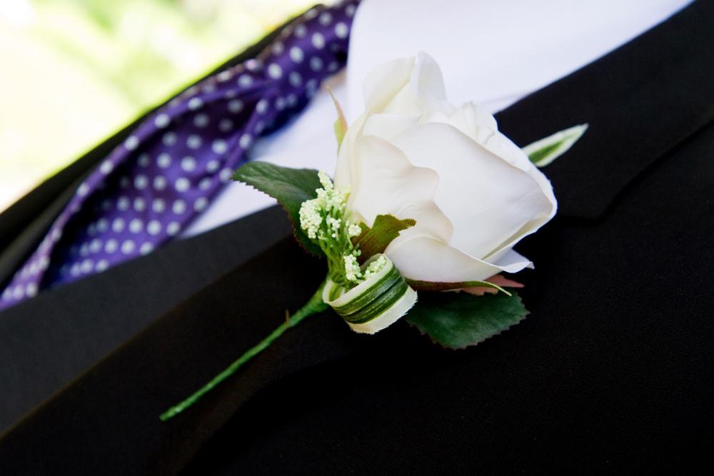 White Rose Buttonhole, Helen England Photography, Kent, U.K