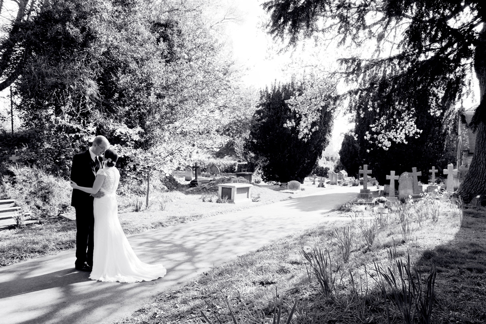 Black and White Wedding Photography, Parish Church of St Peter, Helen England Photography, Kent, U.K