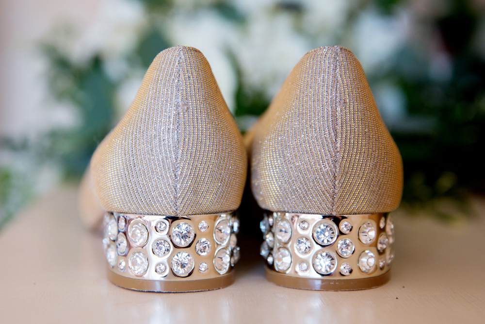 wedding shoes - winter wedding at Hoath House by Helen England Photography, Kent